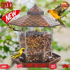 New listing Hanging Wild Bird Feeder ,Gazebo Bird Feeder Garden Decoration for Children