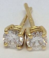 Stunning 0.36ct ( H/si2) Diamond Stud earrings 18ct Gold 1.3g RRP £1295