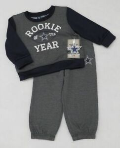 NFL Dallas Cowboys Baby Buster Crew Sweatshirt and Pants Size 9 M