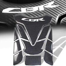 Genuine Real Carbon Fiber Customize Fuel/Gas Tank Pad Decal/Logo Sticker for CBR