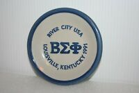 Beta Sigma Phi River City USA Kentucky, Louisville Stoneware Art Pottery Plate