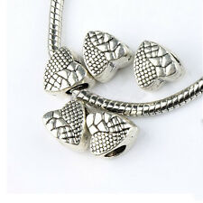 Quality Alloy Heart Big Hole Beads Bracelet Necklace DIY Jewelry Making Kits 4PC