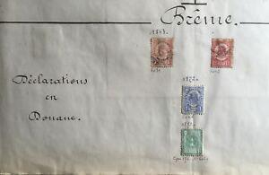 TIMBRES ALLEMAGNE BREME 1862 / 1872 DECLARATIONS en DOUANE - LOT -