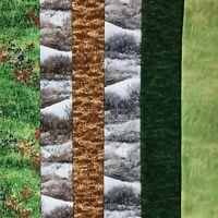 Grass Landscape Fat Quarter Bundle Fields Snowy Ground Quilt Fabric 6 Pieces
