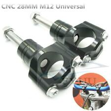 """Motorcycle Handlebar Clamp CNC Aluminum Alloy Bar Clamps 28mm or 1 1/8"""" M12"""