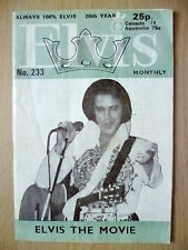 ELVIS PRESLEY- ELVIS MONTHLY 20th YEAR MAGAZINE No. 233 ELVIS THE MOVIE