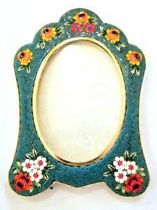 Vintage Micro Mosaic Italian oval photo frame