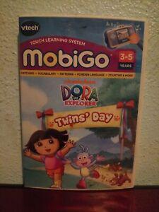 VTech Mobigo Dora the Explorer Twins Day Learning Game  New 