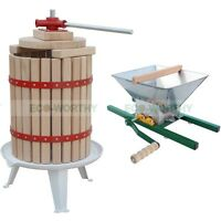 6L/7L/18L Fruit Wine Press Cider Apple Grape Crusher Juice Wine Making Tool