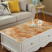 Rectangle Soft Glass PVC Waterproof Table Cloth Cover Protector Desk Mat Desktop