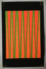 Lines Vintage Blacklight Poster Head Shop 1970's Retro Psychedelic UV Pin-up