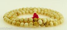 Nobles Coquille Collier De Perles Mala Népal Bijoux Rosario Buddha 49g