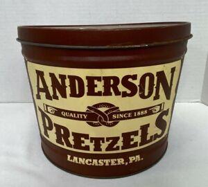 Vintage Anderson Pretzels Tin