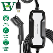 Electric Vehicle Portable Charger 16A EV Car Charging Cable Level 2 NEMA 6-20