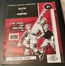 Celtic v Morton League Cup Semi Final 11/10/67