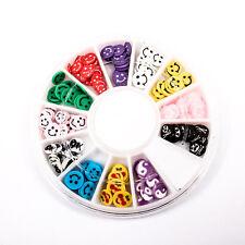 120pcs (1BOX) Fancy Wheel DIY Decor Fimo Clay Nail Tips Art Slice Craft A1715-7