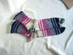 """New, handmade socks 10"""" Long. gray, black rose. .light weight"""