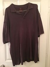 PRE-OWNED MEN'S NORDSTORM PLUM100% COTTON POLO SHIRT SIZE XL