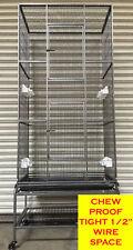 "74"" Large Tight 1/2"" Spacing 3 Level Ferret Chinchilla Mice Rat Guinea Pig Cage-"