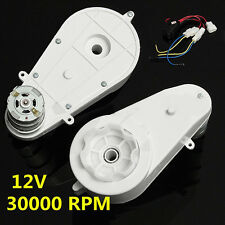 1Pair 12V 30000 RPM Electric Motor Gear Box For Kids Ride On Car Bike Spare Part