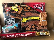 DISNEY CARS - Cars 3 Crazy 8 Crashers - Fishtail & Lightning McQueen As Chester