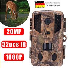 Wildkamera Überwachungskamera 20MP 1080P 850nm IR-LEDs Nachtsicht Wasserdichter