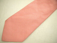 """Faconnable Mens Necktie Tie Pink White Checkered 61"""" Long"""