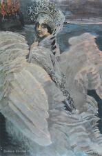 "20"" PRINT Swan Princess,1900 by Vrubel ANTIQUE MUSEUM ART"