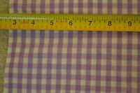 """By-the-Half-Yard, 45"""" Wide, Lavender & White Gingham, Poly/Cotton-Blend C1815"""