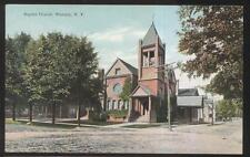 Postcard Waverly New York/Ny Baptist Church w/Tall Bell Tower 1910's