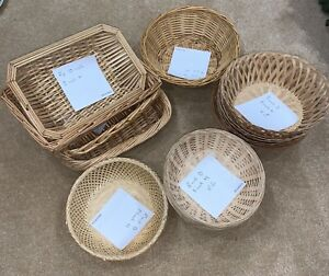 Wicker Baskets Many Shapes and Sizes Serving Bread Fruit Storage Decorative