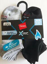 Hanes Boys X-Temp Super No Show Socks Size M 10 Pack