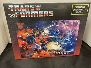 Impact Transformers Space Battle 1000 Piece Jigsaw Puzzle Factory Sealed