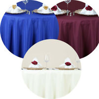 "5 Pack 70"" Round Seamless Polyester Tablecloth Wedding Party Table Linens"