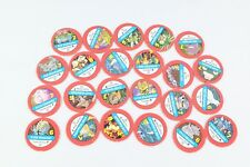 Pokemon Master Trainer 1999 Board Game Replacement Pieces- 23 Red Tokens