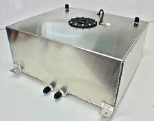 75 LITRES 20 GALLON ALUMINIUM FUEL CELL SATIN + FUEL SENDER DASH 10 FITTING