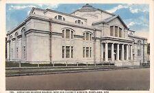 PORTLAND OREGON CHRISTIAN SCIENCE CHURCH~19th AND EVERETT STREETS POSTCARD 1920s