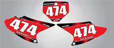 Custom Number Plate graphics for Honda CRF 150F 03-07