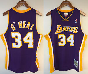 Shaquille O'Neal Los Angeles Lakers LA Mitchell & Ness NBA Authentic Jersey Shaq