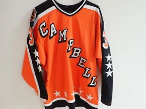 GRANT FUHR NHL ALL STAR JERSEY w/ FIGHT STRAP BLUES OILERS MITCHELL NESS SIZE 48