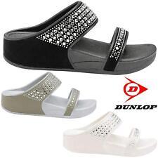Ladies Low Wedge Heel Comfort Walking Fit Flip Flops Fitness Toning Sandals Shoe