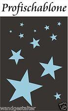 Schablone, Sterne, Stern, Wandschablone, Wandschablonen, Deko - Sternenschablone