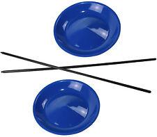 2 Jonglierteller in der Farbe Blau incl. 2 Kunststoffstäben