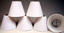 Small 4 Inch, Off-White Muslin Linen Lamp Shades for Chandeliers, etc -Pack of 6