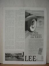 1938 Lee Tire Conshohocken Car on Beach Vintage Print Ad 060
