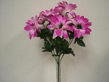 LAVENDER Dahlia Satin Bush 9 Artificial Flowers Bouquet 9004LV