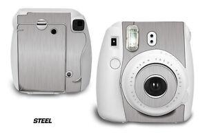 Custom Skin Sticker Wrap Decal For Fujifilm Instax Mini 8 Instant Camera STEEL
