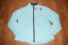 Womens Country MINT Green Teal Ultrafill Quilted Jacket Coat 2xl
