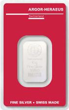 Silberbarren 10g Argor Heraeus 999 Feinsilber 10 Gramm Swiss silver bar