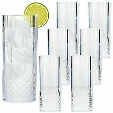 More details for 6pk clear crystal clear highball whiskey wine long drinking glasses tumblers